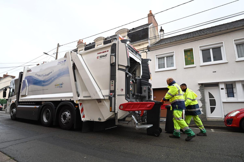Un camion-poubelle à hydrogène.