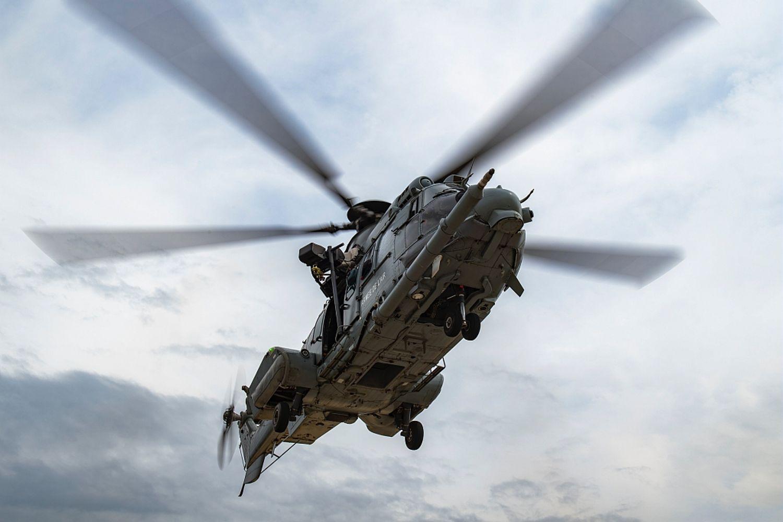 L'hélicoptère médicalisé Caracal de l'armée de l'air a été mobilisé.