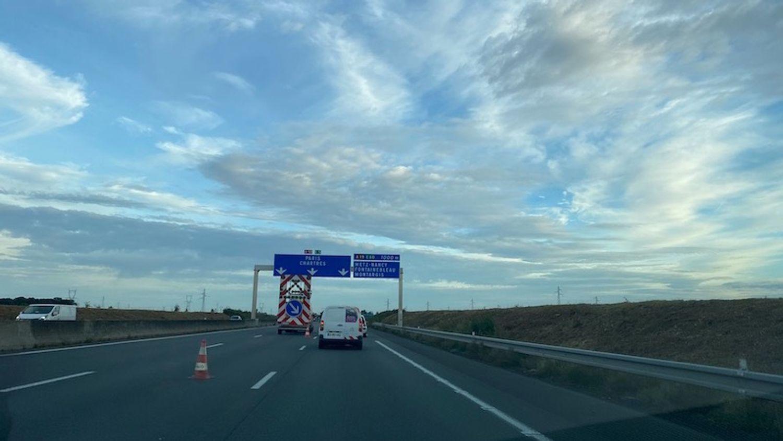Accident sur l'A10 ce vendredi 1er octobre.