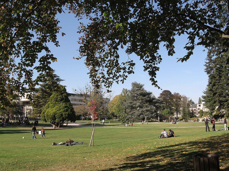 Le parc Pasteur à Orléans.