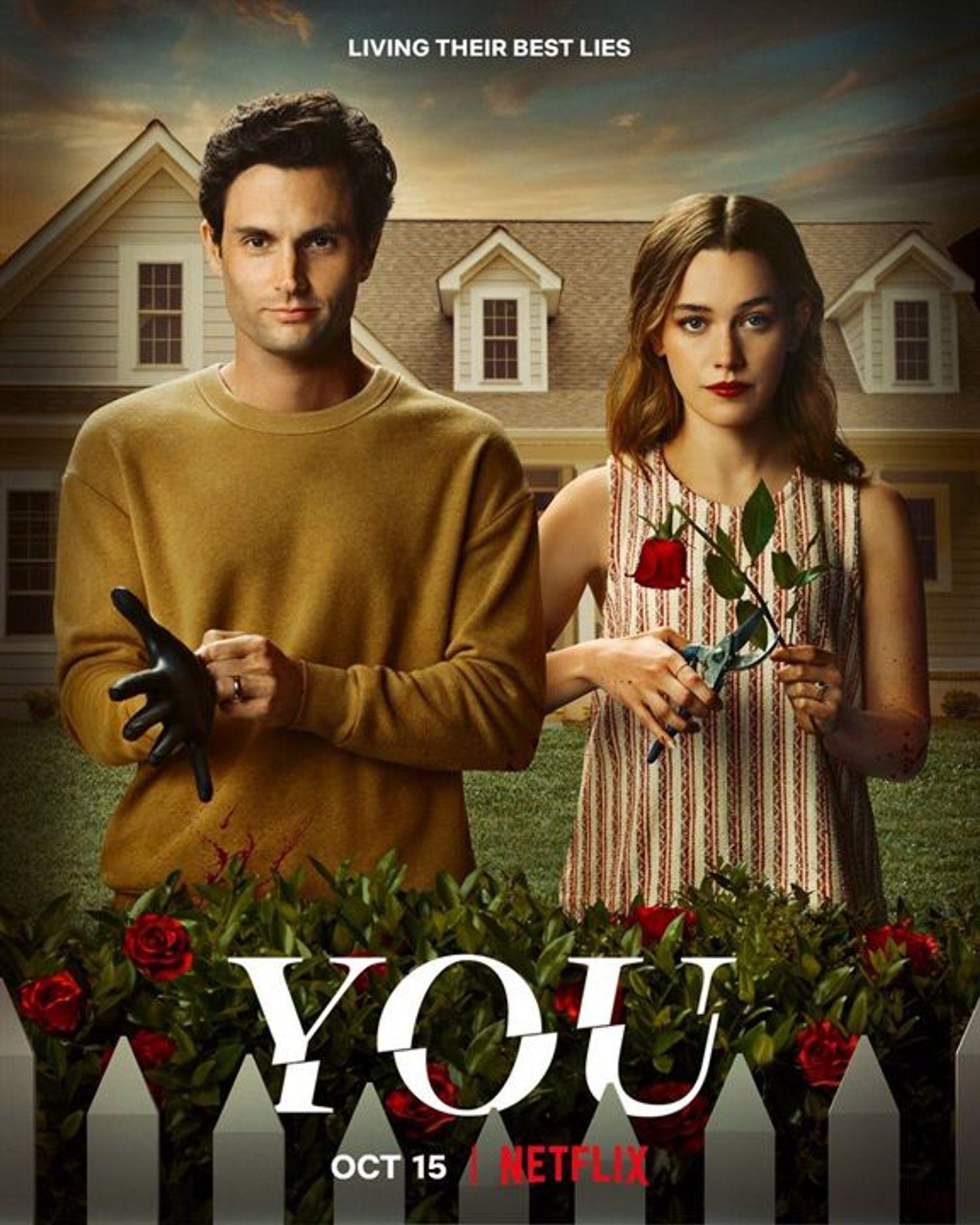 L'affiche officielle de la saison 3 de la série YOU sur Netflix