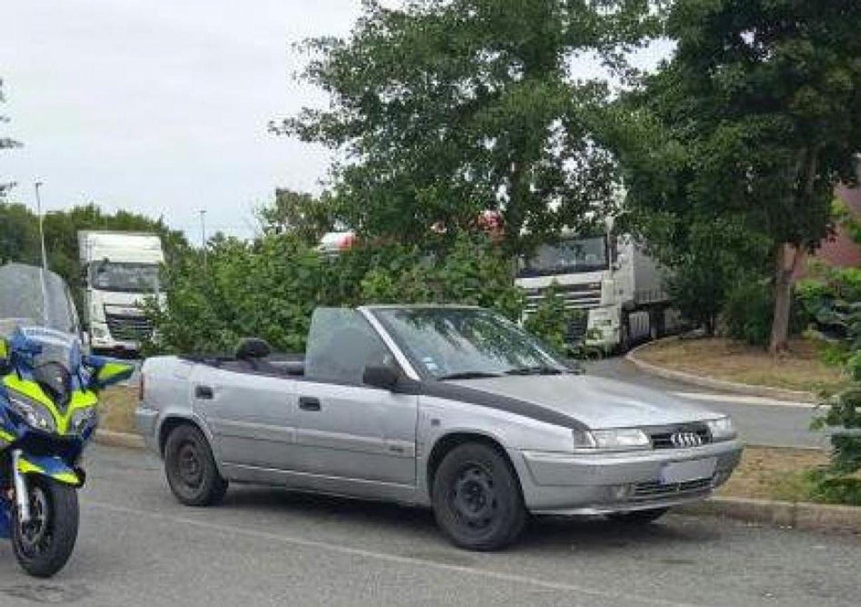 """Une Citroën transformée en cabriolet """"AUDI-BMW"""""""