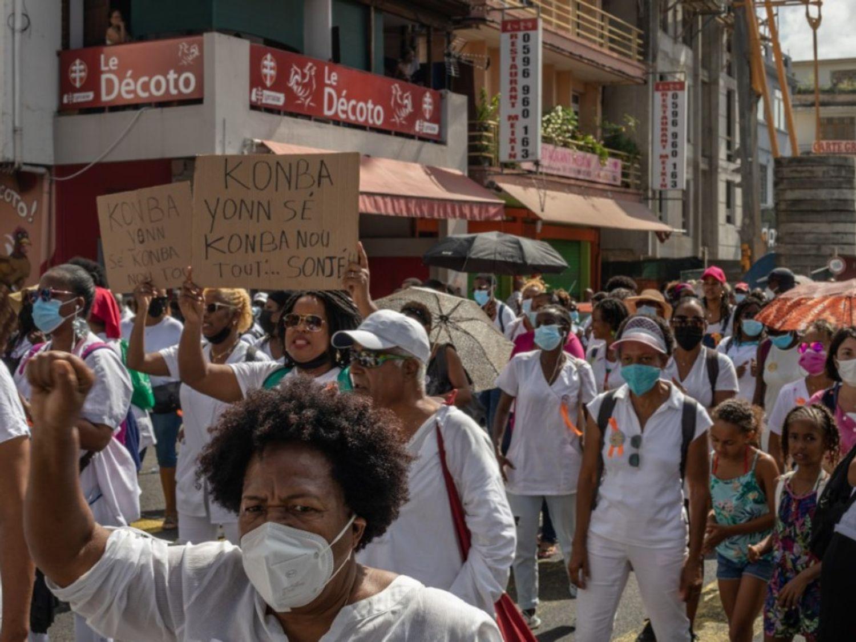 Martinique: manifestation de soignants contre l'obligation vaccinale
