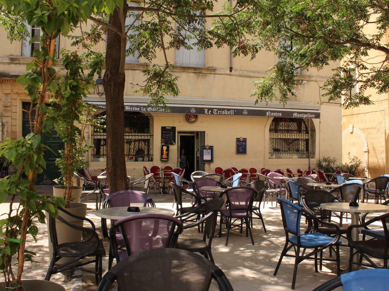 Terrasse place Candolle, à Montpellier