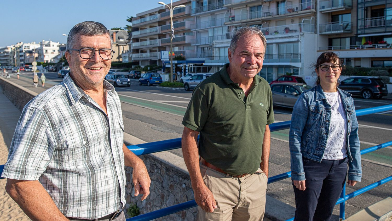 Le maire de Pornichet, entouré de deux adjointes