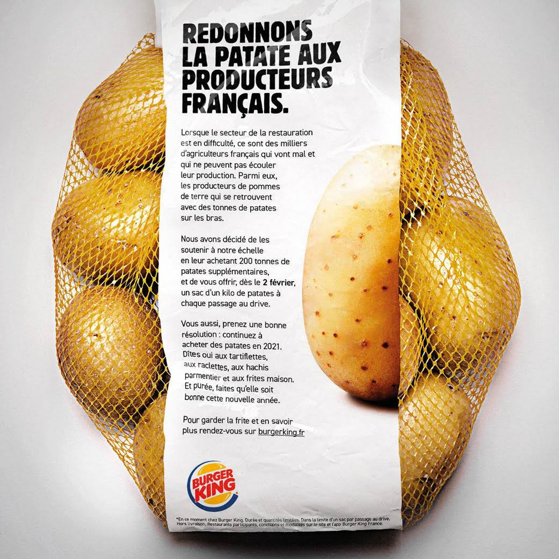 BK pommes de terre