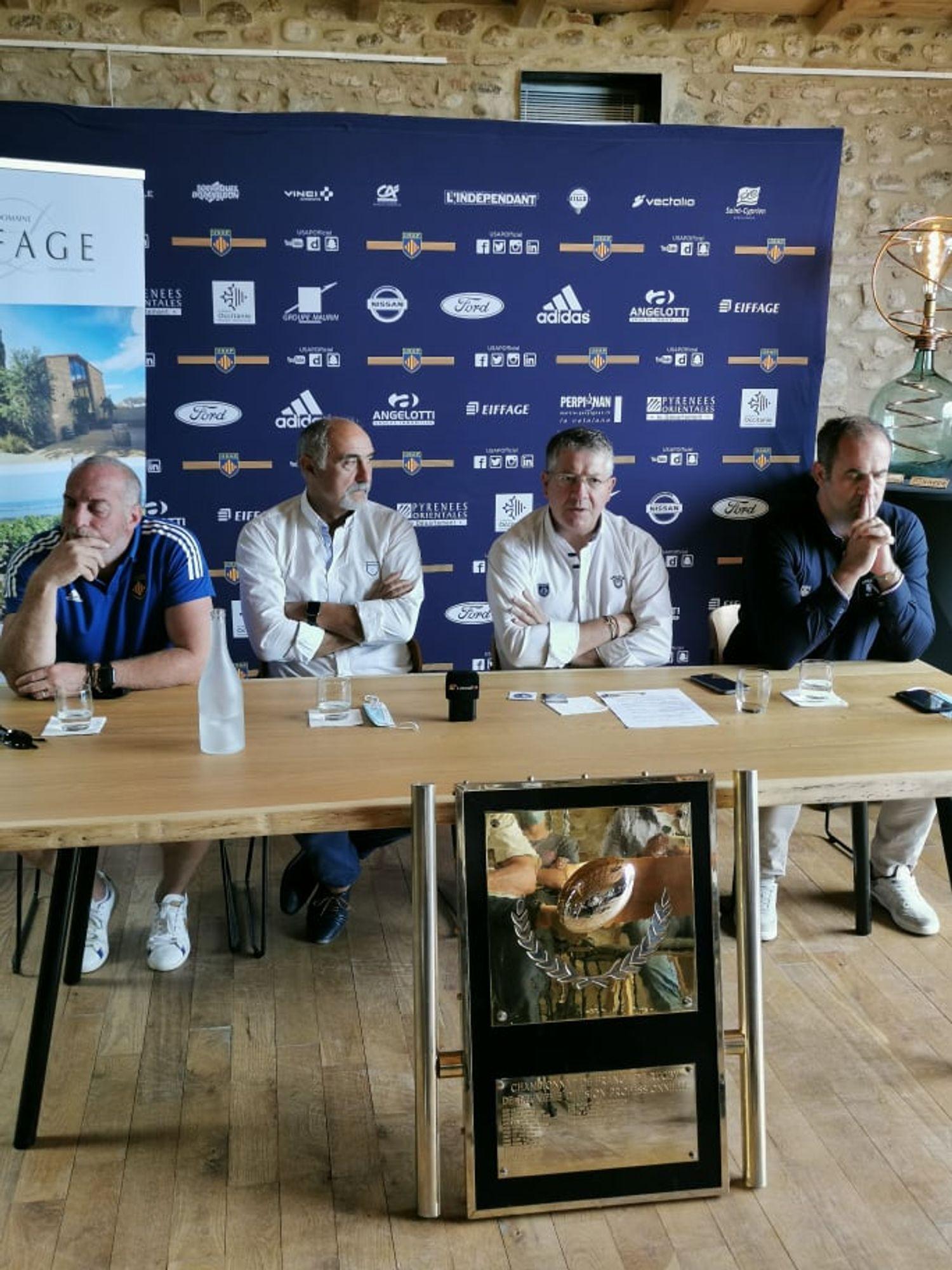 Patrick Arlettaz, Christian Lanta, François Rivière et Bruno Rolland au micro de Littoral FM