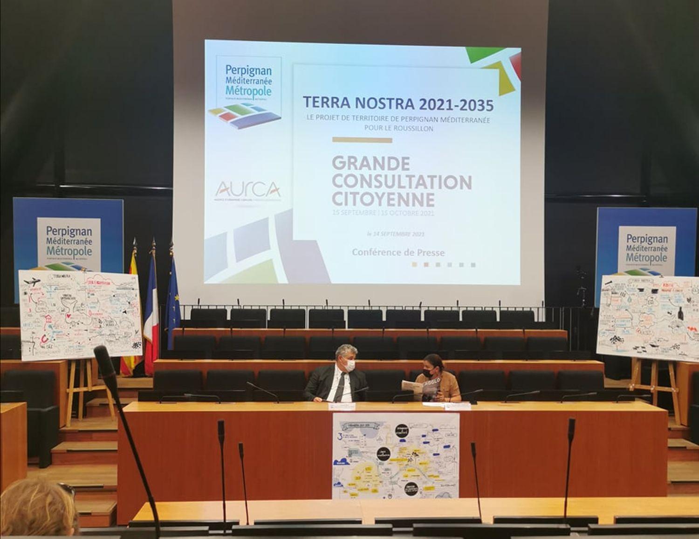 Robert Vila et Armelle Revel-Fourcade présentent la grande consultation citoyenne du P.M.M