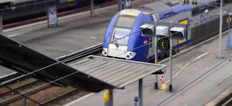 Le TER circulait sur la ligne entre Hendaye et Bayonne