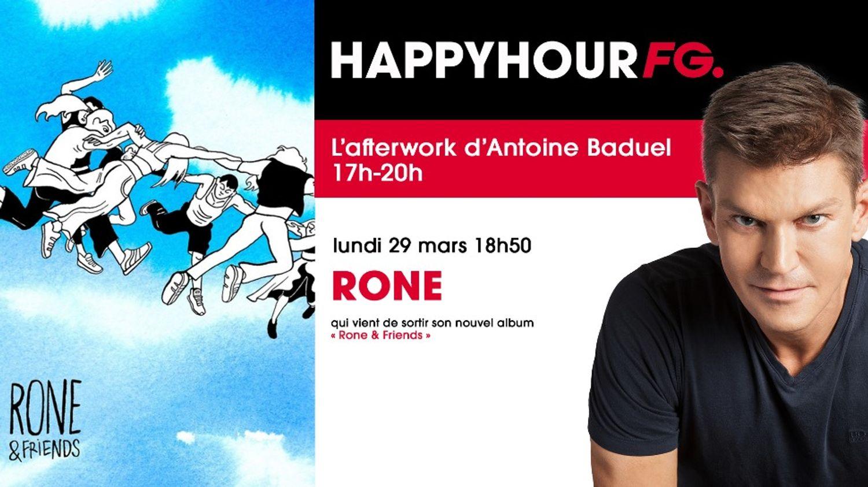 Rone est l'invité de l'Happy Hour ce soir !