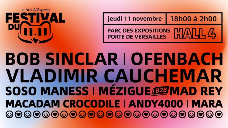 Le festival 11.11, l'électro aux portes de Paris