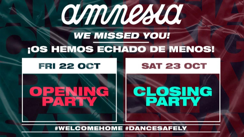 L'Amnesia Ibiza fait son closing!