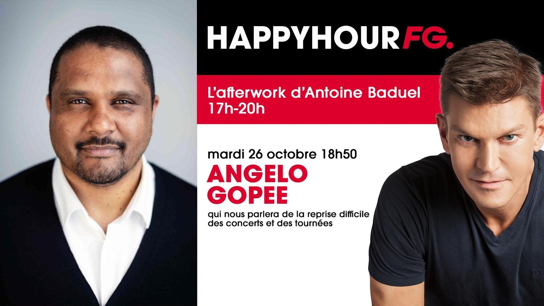 Angelo Gopee, directeur de Live Nation France, invité ce soir dans l'Happy Hour !