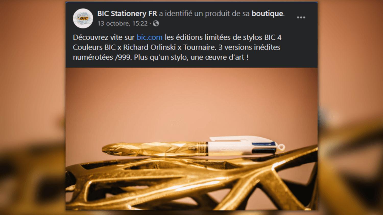 BIC lance des éditions luxueuses de ses stylos 4 couleurs