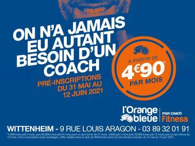 Orange Bleue, votre nouvelle salle fitness à Wittenheim