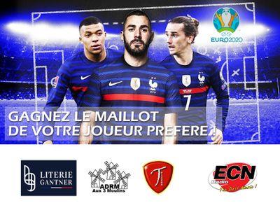 EURO 2020 : Jouez avec Radio ECN pour gagner votre maillot préféré !