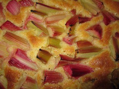 CHEESE CAKE RHUBARBE