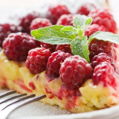 Gâteau aux framboises tout léger