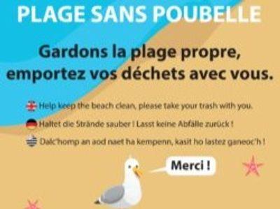 Du civisme à la place des poubelles sur les plages de Combrit.