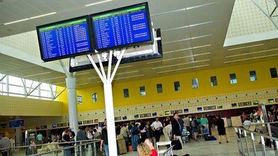Un centre de dépistage Covid à l'Aéroport de Bordeaux