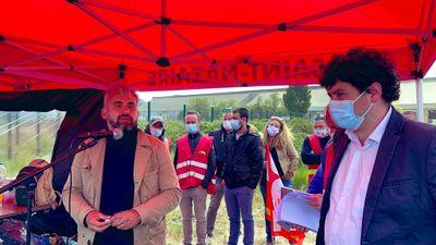 Alexis Corbière à Montoir-de-Bretagne pour soutenir les salariés de...