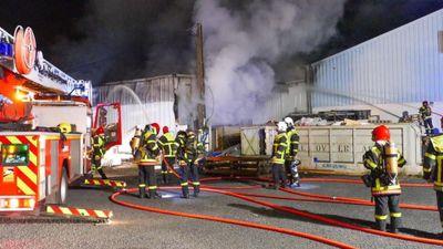 Perpignan : l'entrepôt d'une entreprise dévasté par les flammes