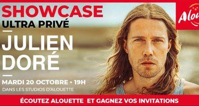 Julien Doré en showcase ultra privé dans les studios d'Alouette !