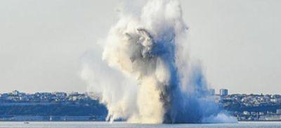 Mission accomplie pour l'explosion de la mine à Brest.