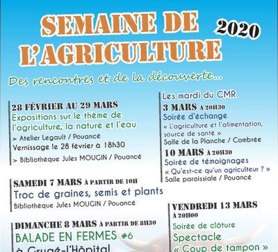 La semaine de l'agricuture d'Ombrée d'Anjou démarre ce soir