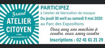 Atelier citoyen : 70 000 masques pour Anjou Bleu Communauté !