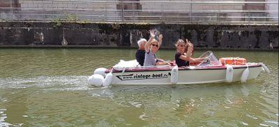 Promenade en bateau sur le canal du Rhône au Rhin