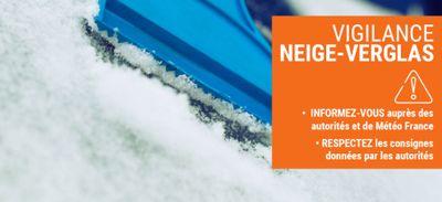 Alerte météo – VIGILANCE ORANGE Neige-Verglas : établissements...