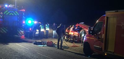 Accident de la route près du Tiffany