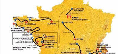 Départ en Vendée, passage en Bretagne : le parcours du Tour de...