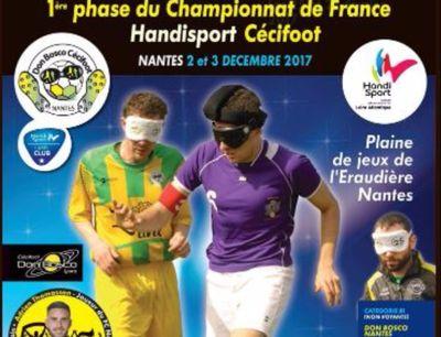 Les championnats de France de cécifoot auront lieu à Nantes ce...