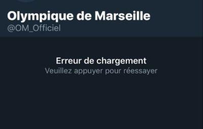 Après le match face à Nantes, le compte Twitter de l'OM suspendu