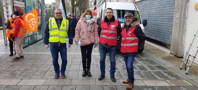 Les salariés de la centrale de Cordemais rassemblés à Nantes