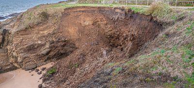 Pornichet : effondrement d'une partie de la falaise