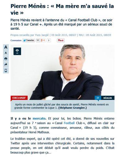 Pierre Ménès a frôlé la mort cet été à Saint-Nazaire !