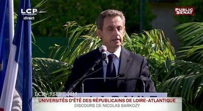 Le lapsus de Nicolas Sarkozy à La Baule !