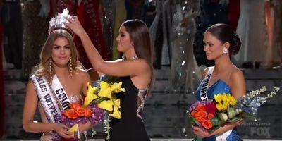 Miss Univers est Miss... Colombie... euh, non, Miss Philippines,...