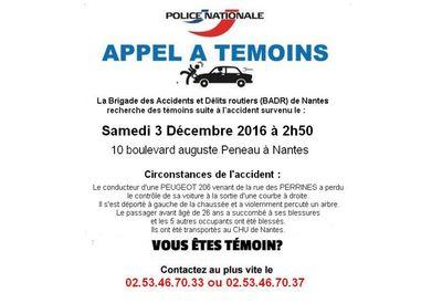 Nantes : la police lance un appel à témoins après un accident mortel