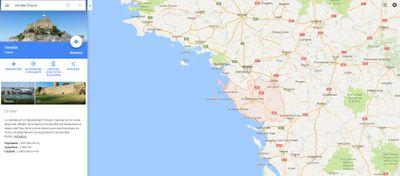 Insolite : le Mont-Saint-Michel serait en Vendée... selon Google