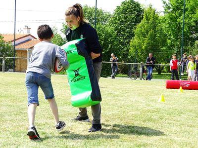 Le Stade Nantais invite les jeunes du Landreau dans la mêlée