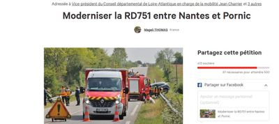 Une pétition réclame une quatre voies entre Nantes et Pornic