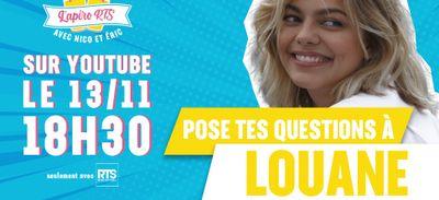 Participez à l'apéro RTS avec Louane !