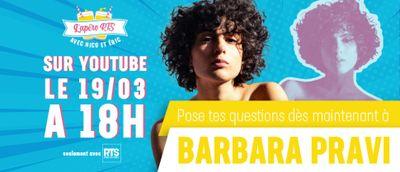 Participez à l'apéro RTS avec Barbara Pravi !