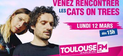 Rencontrez les Cats on trees dans le studio Toulouse FM