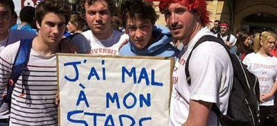 Manifestation des étudiants de STAPS