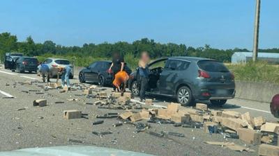 Haut-Rhin : ruée sur des dosettes de café sur l'A35 après un accident